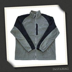 AVIA Black & Gray Fleece Lightweight Jacket